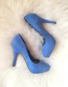 New Look platformy Niebieskie szpilki