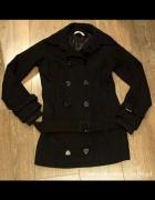 Płaszcz czarny ciepły S...