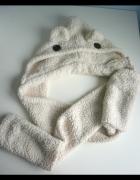 asos miś 3w1 czapka szalik rękawiczki włochacz...