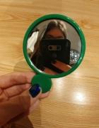 zielone podręczne okrągłe lusteko Donegal Nowe