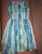sukienka błękitna beata cupriak...