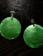 kolczyki zielone kółka