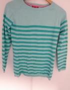 Niebieski sweterek w paski...