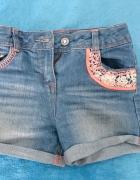 Jeansowe spodenki dziewczęce...
