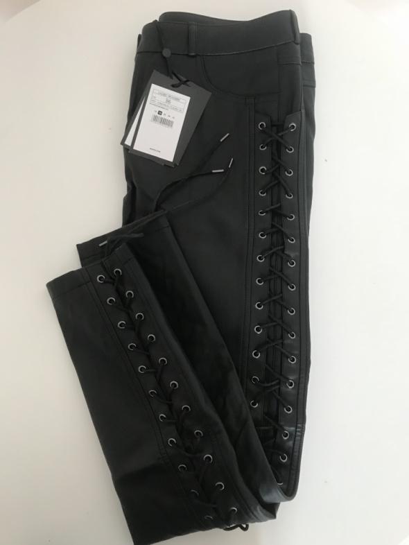 Skórzane spodnie Mohito nowe rozm S 36...