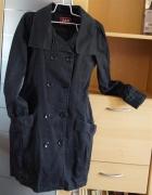 Płaszczyk płaszcz damski bombka z paskiem czarny wiosna jesień rozmiar 36