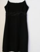 Sukienka czarna na ramiączkach EGO rozmiar M L