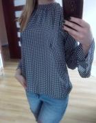 koszula vintage grochy stójka