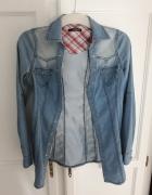 jeans koszula taliowana rozmiar 36 S