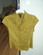 Oliwkowa koszula z krótkim rękawem