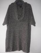 Sukienka tunika dzianinowa z golfem XL XXL...