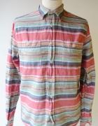 Koszula Fishbone XS 34 Wzory Kolorowa Regular Fit...