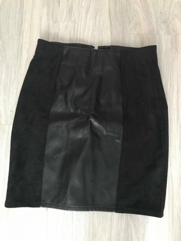 Spódnice Skórzana spódnica H&M zamsz