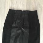 Skórzana spódnica H&M zamsz