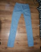 Niebieskie błękitne spodnie jeans rurki 34 36 XS S