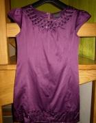 Śliwkowa sukienka ZIP38 super stan