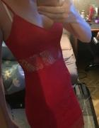 sukienka koronkowa czerwona...
