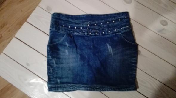 Spódnice Spódnica Jeansowa Dżety