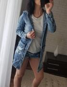 Jeansowa kurtka katana długa płaszcz rozmiary M L i XL...
