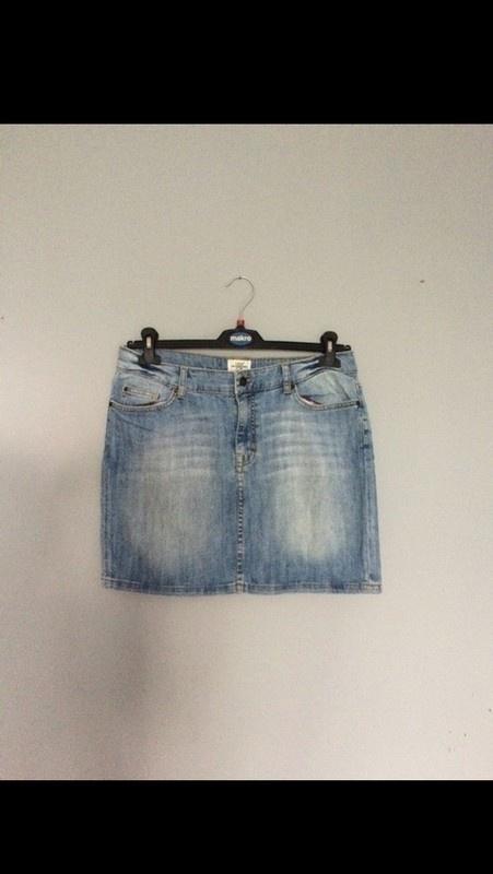 Spódnice Spódniczka jeansowa mini 42 XL przetarcia