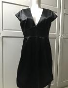 Elegancka sukienka mała czarna jak NOWA satynowa...