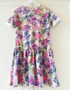Sukienka floral kwiatowe printy markowa Rozm M...