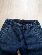 Spodnie jeansy dżinsy ściągacz marmurki SINSAY xs s 34 36