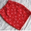 spódnica dresowa S M świąteczna czerwona gwiazdka