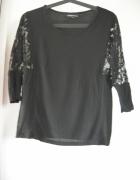 Czarna koronkowa bluzka Warehouse...