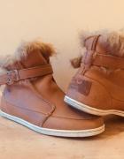 Skórzane i ocieplane buty