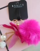 Pink Futerkowe Cacko Korona Brelok NOWE