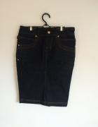jeansowa spódnica...