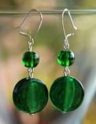 Eleganckie zielone kolczyki HAND MADE boho orient hippie...