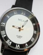 Zegarek czarno biały Miler