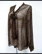 Koszula Next retro vintage wiązana przy dekolcie groszki