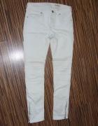 biale spodnie jeans H&M rozmiar S