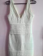 Biała krótka sukienka bandażowana seksowna