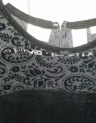 Sukienka czarna zamszowa