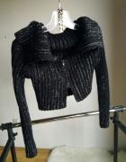 bolerko czarne krótki sweter czarny r uniwersalny S M