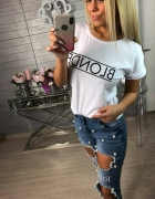 Biała bluzka blonde