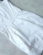 French Biała sukienka metalowy ZAMEK 34 36