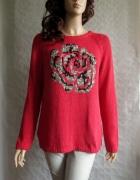 SKOVHUUS sweter pulower róża pomarańcz 40