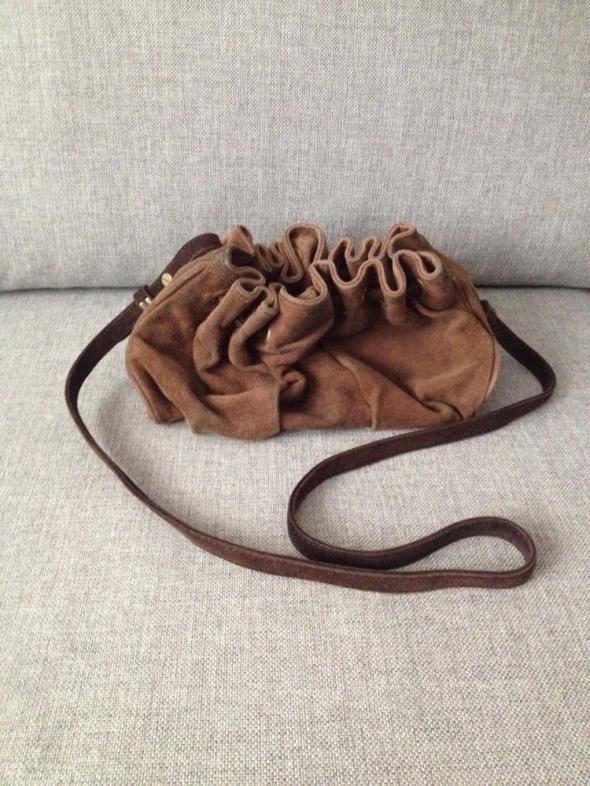 Skórzana torebka worek ZARA