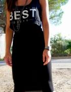 Nowa Bershka czarna sukienka BEST DRESS MIDI...
