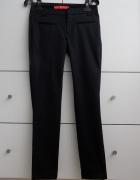 Mango Nowe Czarne elegancki spodnie rurki cygaretki do kostki