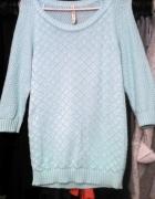 Wyprzedaż miętowy sweterek stradivarius...