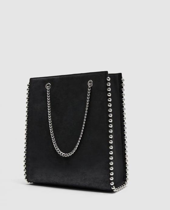 Szukam torba Zara czarna srebrna łańcuch...