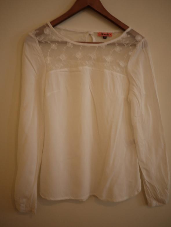 Biała Koszula mgiełka z długim rękawem Moodo XS S