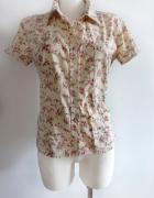 Koszula floral kwiaty kołnierzyk S