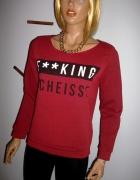 Bluza Czerwona z Nadrukiem 36 S